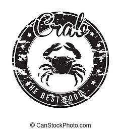 crab design over white background vector illustration