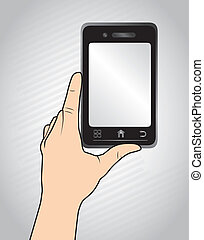 touch screen over gray background vector illustration
