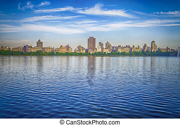 Reservoir in Central Park, New York