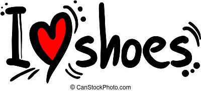 Shoes love - Creative design of shoes love