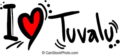 Tuvalu love - Creative design of Tuvalu love
