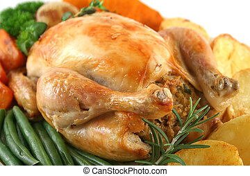 Whole Roast Chicken - Whole roast chicken with potatoes...