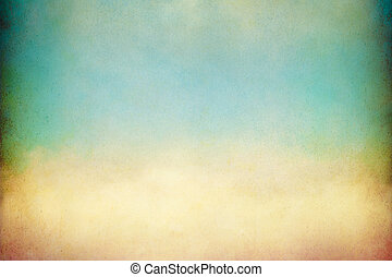 Soft Yellow Cloud - A soft, billowing cloud with vintage...
