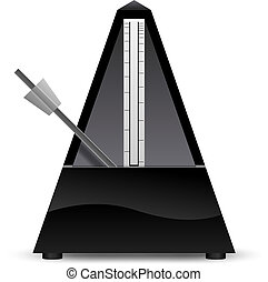 Black metronome vector illustration - Black metronome...