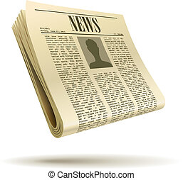 Newspaper realistic vector illustration isolated on white...