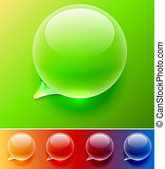 Water drop speech balloon vector template. Easy to change...