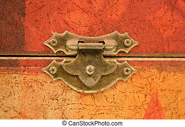 Tarnished Old Clasp - An old tarnished clasp fastening a lid...
