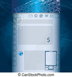 Technology business template background
