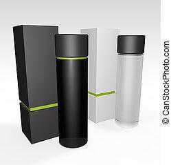 perfume or beauty blank packaging - 3d render of packagin...
