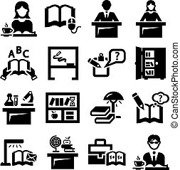 education vector icons