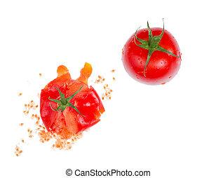 Crushed  fresh tomato.