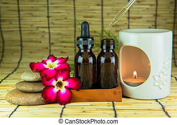 Aromatherapy set - Aromatherapy essential oil and the burner