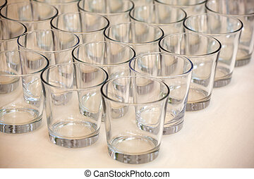 Glasses - View of Many glasses on the table