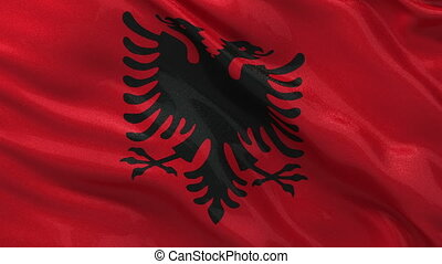 Flag of Albania seamless loop