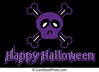 Happy Halloween skull and crossbone