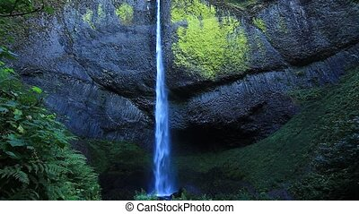Latourell Falls located in the Columbia River Gorge east of...