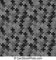Vector pattern - seamless gray crosses texture