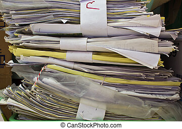 Stack of old paper files  - Stack of old paper files