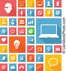 Web and Soft Icon set. Vector EPS10.