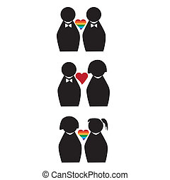 love different - three different couples with three diferent...