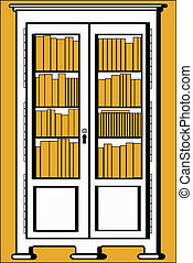 bookcase - The vector illustration - bookcase