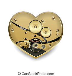 Metal steampunk heart