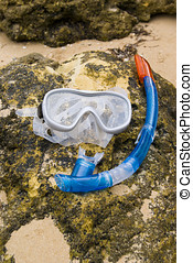 Snorkelling Mask - Snorkelling mask in on beach in Albufeira...