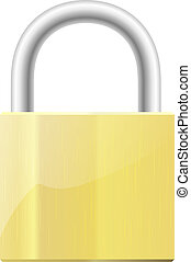 Illustration of a closed padlock