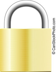 Illustration of yellow padlock