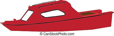 boat - vector - illustration of boat - vector