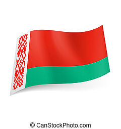 State flag of Belarus - National flag of Belarus: wide red...