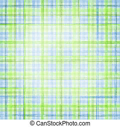 plaid background in blue, green