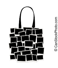 Shopping bag made from photo frames for your design