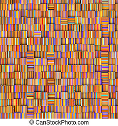 tile mosaic pattern backdrop in striped orange purple