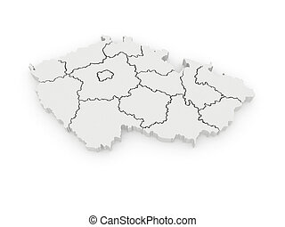 Three-dimensional map of Czech 3d