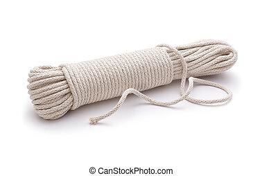 Rope Cord Unravelled on a white background