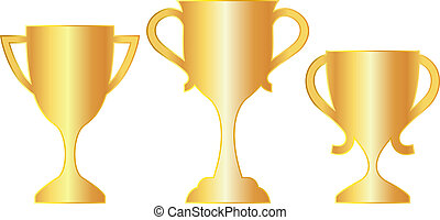 Gold cup - Vector gold cup icons