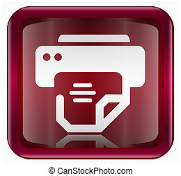 printer icon, isolated on white background
