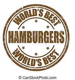 Hamburgers stamp