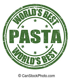 Pasta stamp - Pasta grunge rubber stamp on white background,...