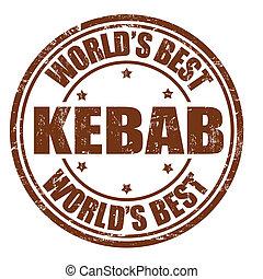 Kebab stamp - Kebab grunge rubber stamp on white background,...