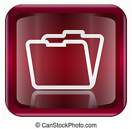 Folder icon, isolated on white background
