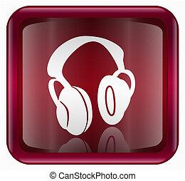 headphones icon red