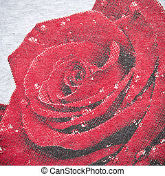 Red Rose Fabric Texture