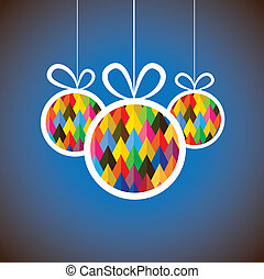 Beautiful abstract colorful Christmas balls- vector graphic....