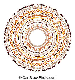 Round ornament design, ethnic style