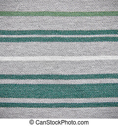 Green Lined on Grey Fabric Texture
