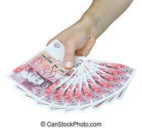 Dinheiro, Reino Unido, britânico, libras