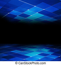 Blue Abstract Concept Tech Background - Abstract Glowing...