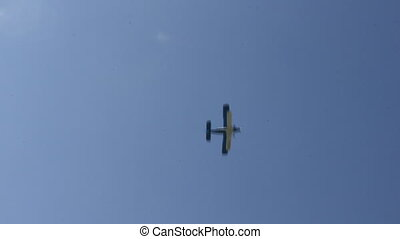 Propeller airplane in the sky 8993